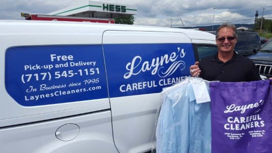 Picture of Layne's Careful Cleaners delivery van